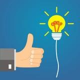 Idea di concetto - la direzione approva l'idea Fotografie Stock