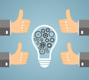 Idea di concetto - la gestione approva l'idea Fotografie Stock Libere da Diritti