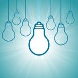 Idea di conquista luminosa Fotografie Stock Libere da Diritti