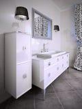 Idea di mobilia per il bagno Immagini Stock