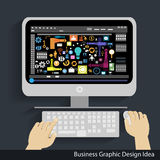 Idea di progettazione di grafico dell'attività di vettore Immagine Stock