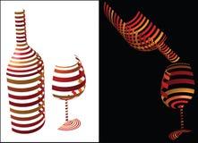 Idea di simbolo del vino illustrazione vettoriale