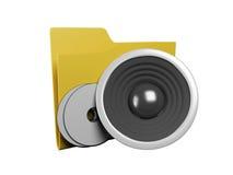 Idea di un'icona un dispositivo di piegatura Fotografia Stock