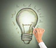 Idea. Draw a big idea. concept of creativity Royalty Free Stock Photography