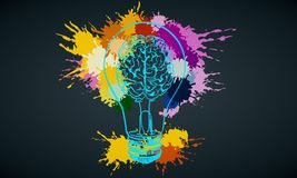 Idea e concetto dell'innovazione illustrazione di stock