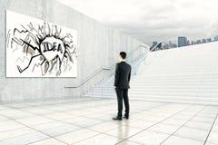 Idea e concetto di successo Fotografie Stock Libere da Diritti