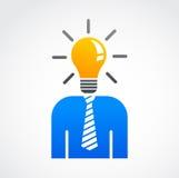 Idea e icono humano creativo, abstracto libre illustration
