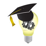 Idea education gear lightbulb illustration design Royalty Free Stock Photography