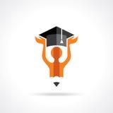 Idea of education symbol with pencil Stock Photos