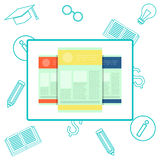 Idea of education test, questionnaire, document vector illustration flat style Royalty Free Stock Photography