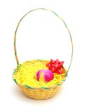 Idea of a egg easter basket Royalty Free Stock Image