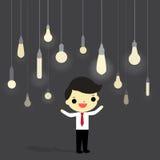 Idea en mundo del negocio ilustración del vector