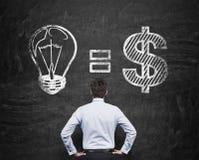 Idea equals money Stock Photos