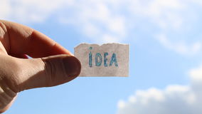 Idea, etichetta con l'iscrizione video d archivio