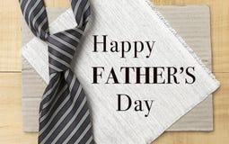 Idea feliz del diseño de tarjeta del día del ` s del padre Fotos de archivo libres de regalías