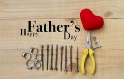 Idea feliz del diseño de tarjeta del día del ` s del padre Foto de archivo