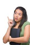 Idea femenina del hallazgo del adolescente Imagen de archivo