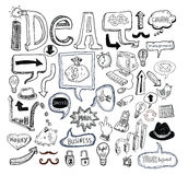 Idea and finance icons doodle set. vector illustration. Royalty Free Stock Images
