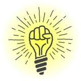 Idea fresca lámpara en la forma de una mano Imagenes de archivo