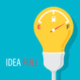 Idea full symbol Royalty Free Stock Photos
