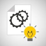 Idea gear programming engineer Stock Image