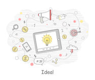 Idea Generation Banner Royalty Free Stock Images