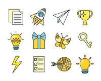 Idea Generation Icon Set Stock Photography