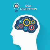 Idea generation and startup business concept. Royalty Free Stock Images