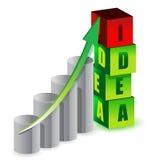 Idea graph illustration design Stock Photography