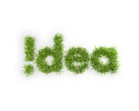 Idea grass patch Royalty Free Stock Photos