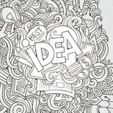 Idea hand lettering and doodles elements Royalty Free Stock Photos