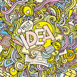 Idea hand lettering and doodles elements Royalty Free Stock Photography