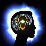 Idea in head stock illustration