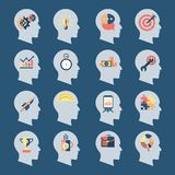 Idea Head Icons Royalty Free Stock Photography