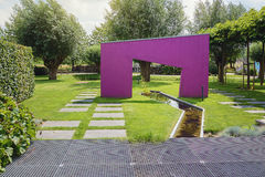 Idea hermosa del jardín Fotos de archivo libres de regalías