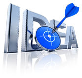 Idea. High resolution rendering of a idea icon Royalty Free Stock Photography