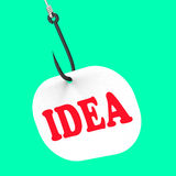 Idea On Hook Shows Innovations And Creativity Stock Photos