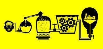 Idea. How to get an idea vector illustration