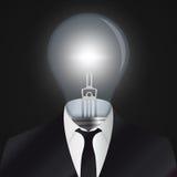 Idea. Human head with bulb symbol. Vector Royalty Free Stock Photos