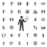 Idea icon. Business icons set Stock Photos
