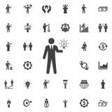 Idea icon on white. Idea icon. Business icons set Stock Photo