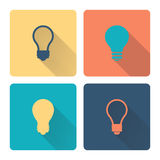 Idea icon. Flat design. Vector illustration. Stock Image