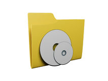 Idea of an icon a folder Royalty Free Stock Photography
