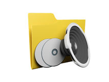 Idea of an icon a folder Royalty Free Stock Photo