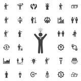 Idea icon on white. Idea icon. Business icons set Stock Photography
