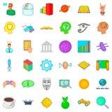 Idea icons set, cartoon style. Idea icons set. Cartoon style of 36 idea vector icons for web isolated on white background Stock Images