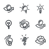 Idea icons set Royalty Free Stock Photo