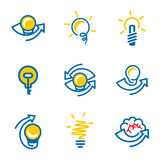 Idea icons set isolated on white background Royalty Free Stock Photos