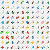 100 idea icons set, isometric 3d style. 100 idea icons set in isometric 3d style for any design vector illustration Royalty Free Stock Image