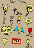 Idea icons Royalty Free Stock Photography